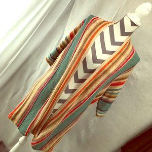 Multicolored long cardigan boho style