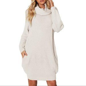 Tops - New! Oatmeal/beige sweater dress/tunic