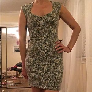 Forever 21 Tight Floral Mini Dress