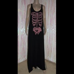 Skeleton Maxi Dress 551