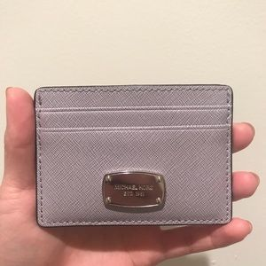 Lavender gray Michael Kors card case / wallet.