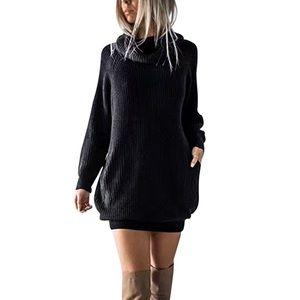 Tops - Jet black chunky sweater