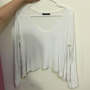 Brandy Melville white loose top