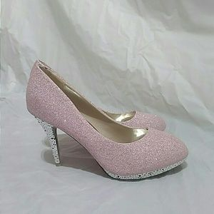BNHH Pink Shimmery Studded Red Bottoms