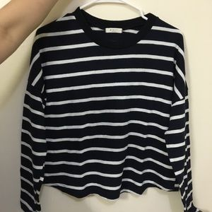 Navy/grey stripe long sleeves (2 available)