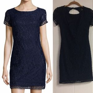 Laundry by Shelli Segal Navy Floral Lace Dress
