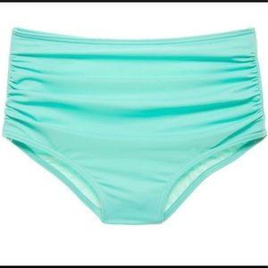 Sea foam green vs high waist bikini bottom