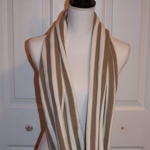 White And Tan Woman Scarf