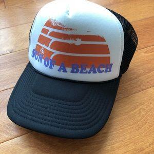 Sun of a Beach O'neill Faux Trucker Hat OS Black