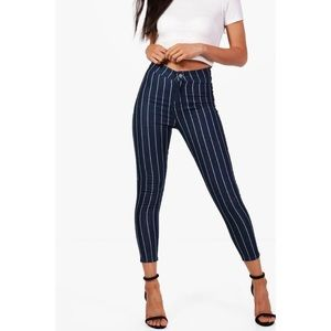 Boohoo Jeans - Striped Ankle Denim