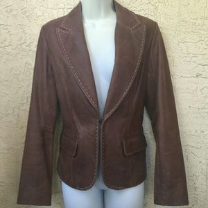 Like New Soft Brown Leather Jacket
