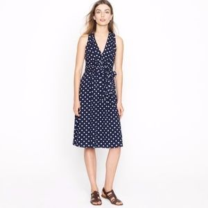 J Crew  polka dot elinor wrap Dress 10