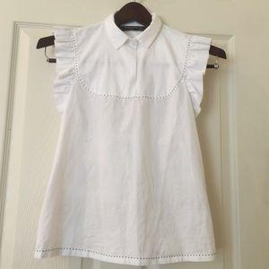 White Zara top size Small