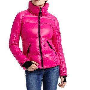 Fucia puffer coat with black fleece lining