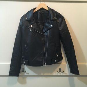 Romeo & Juliet black faux leather jacket