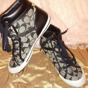 Coach high top sneakers 7.5