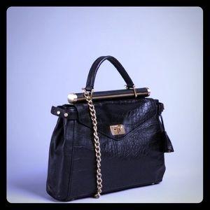 BCBG croc satchel