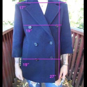 Burberry Wool Navy coat 3/4 sleeves 100% wool 6