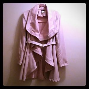 Venus Wrap Coat,  Size Large, Rose Blush.