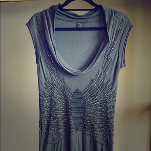 Kate Moss Topshop Studded Gray Dress UK 6 US 0