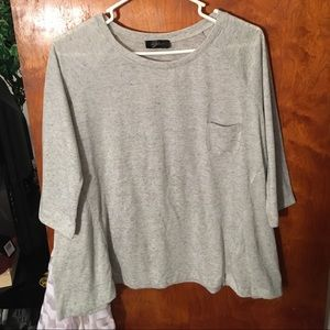Tops - Women's half sleeve grey shirt
