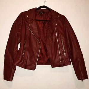 """Red Moto """"leather"""" jacket"""