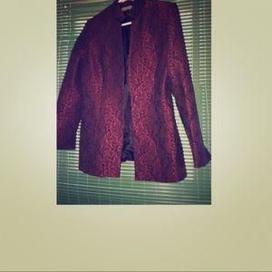 Brocade blazer size 8p