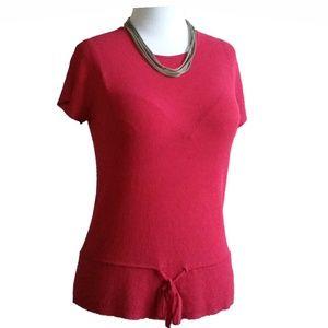 *ANNE KLEIN pink blouse 68% viscose/32% nylon SZ S