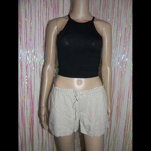 Tan Tie Waist Shorts 570