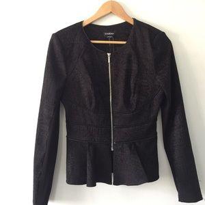 NWT Black BEBE Fitted Zip Jacket