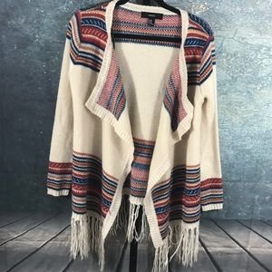Forever 21 sweater BOHO open front