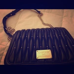 Bebe black small shoulder bag