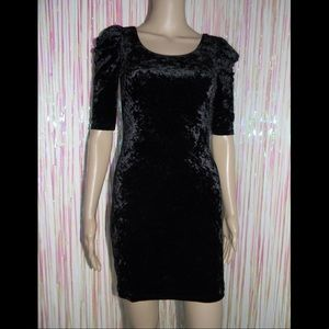 Black Velvet Mini Dress 584