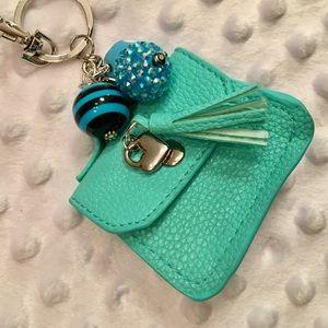 "NEW! CUTE Tiffany-Blue 👛Coin ""Purse""👛 w/Tassel!"