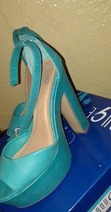 Blue heels ..