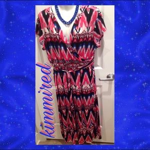 Cato Pink/Blue Maxi Dress ~ 22/24WP ~ EUC