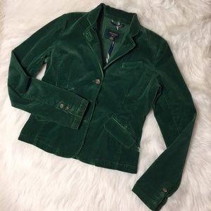 American Eagle Emerald Corduroy Blazer Small