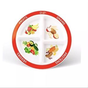 MyPlate kids portion divided Plate NEW