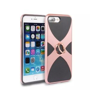 IPHONE 7 SHOCKPROOF ROSE GOLD RING STAND CASE