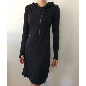 Black Athleta 1/2 Zip Dress Medium Tall MT