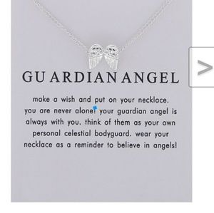 New angel wings necklace silver