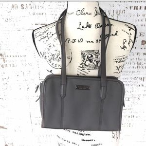 Coach leather and neoprene gray shoulder bag