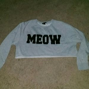 Forever 21 grew meow crop top