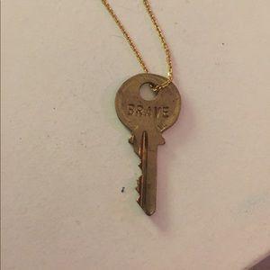 The Giving Keys- BRAVE in gold color