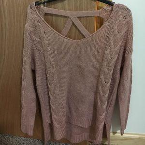 Charlotte Russe open back sweater