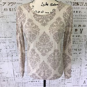 Old Navy printed crew neck cotton sweater sz small