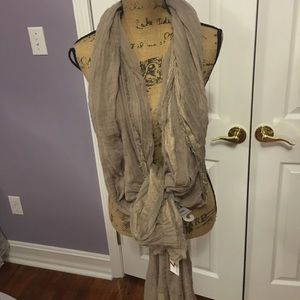 Tan Sparkly Oblong SCARF Wear it so many ways!