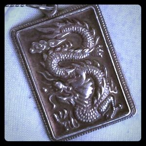 🐲Vintage Asian Dragon Sterling Silver Necklace🐲