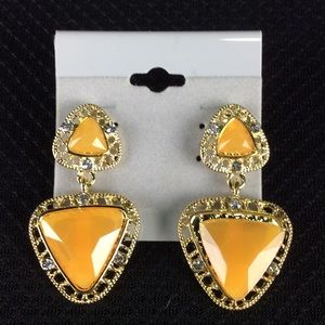 New Yellow And Gold Earrings