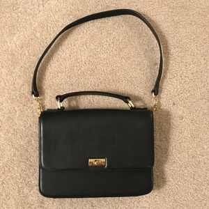 J. Crew Black Leather Purse